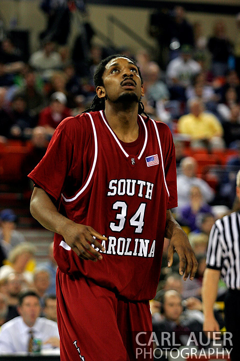 25 November 2005: USC junior forward, Renaldo Balkman (34),  in the South Carolina 62-56 victory over Monmouth University at the Great Alaska Shootout in Anchorage, Alaska