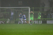 Dover players celebrate Moses Emmanuel's goal, 0-1 during the Vanarama National League match between Forest Green Rovers and Dover Athletic at the New Lawn, Forest Green, United Kingdom on 17 December 2016. Photo by Shane Healey.