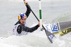 Peter Kauzer of BD Steklarna Hrastnik competes in the Men's Kayak K-1 at kayak & canoe slalom race on May 9, 2010 in Tacen, Ljubljana, Slovenia. (Photo by Vid Ponikvar / Sportida)