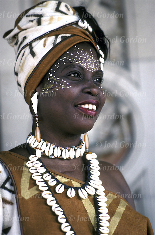 Ethnic beauty concept what is beautiful? Beautiful African Woman looking directly at camera