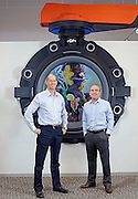Georg Fischer executives John Pregenzer and Roy Cripps for Globe magazine.