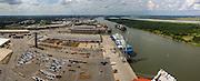 Ship to shore cranes work at the Georgia Ports Authority Garden City Terminal, Friday, Aug. 21 2015, in Savannah, Ga.  (GPA Photo/Stephen B. Morton)