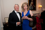 SIMON CARNACHAN; ANGELA SCOTT; , Charity Dinner in aid of Caring for Courage The Royal Scots Dragoon Guards Afganistan Welfare Appeal. In the presence of the Duke of Kent. The Royal Hospital, Chaelsea. London. 20 October 2011. <br /> <br />  , -DO NOT ARCHIVE-© Copyright Photograph by Dafydd Jones. 248 Clapham Rd. London SW9 0PZ. Tel 0207 820 0771. www.dafjones.com.