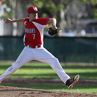 Westmont #7 Giovanni Besio vs Leland in a BVAL Baseball Game at Westmont High School, Campbell CA on 3//23/2018. (Photograph by Bill Gerth/ for SVCN) (Leland 9 Westmont 8)