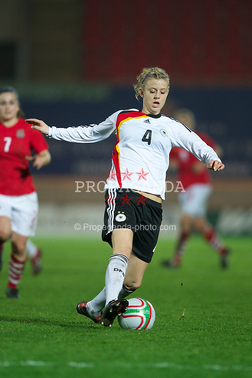 LLANELLI, WALES - Thursday, March 31, 2011: Germany's Johanna Elsig in action against Wales during the UEFA European Women's Under-19 Championship Second Qualifying Round (Group 3) match at Parc Y Scarlets. (Photo by David Rawcliffe/Propaganda)