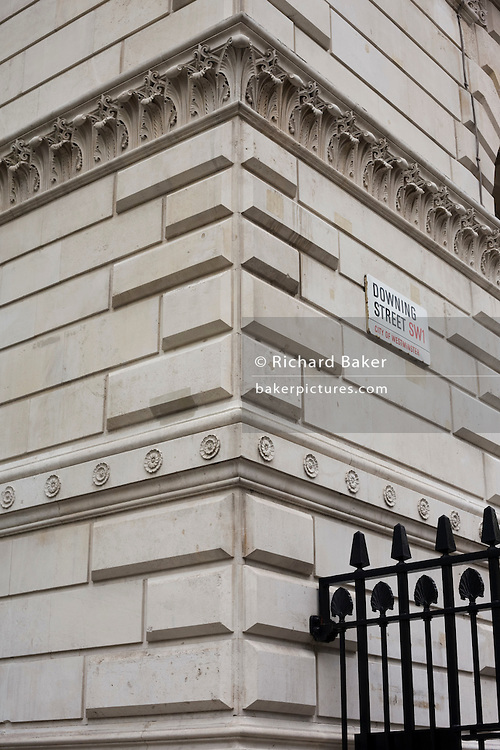 Entrance to Prime Minister's residence and government offices - Downing Street.
