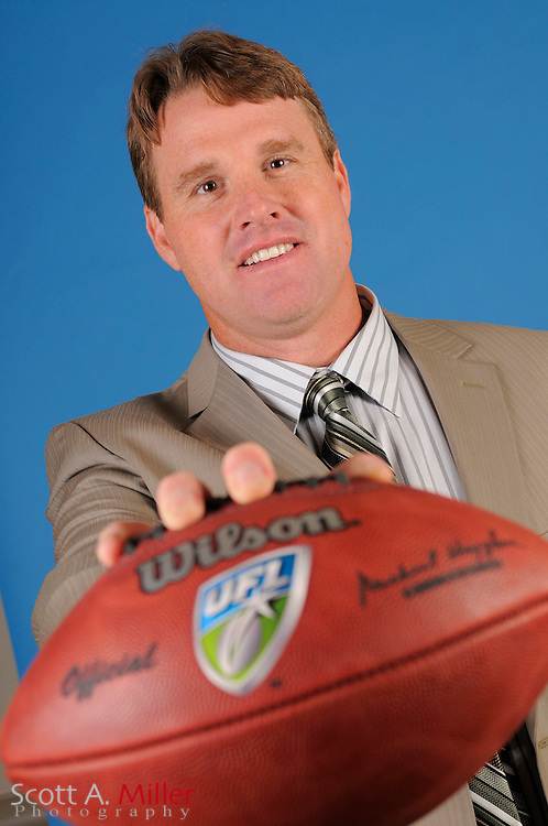 April 22, 2010; Orlando, Florida - Coach Jay Gruden during the United Football League 2010 League Meetings at Rosen Shingle Creek....© Scott A. Miller
