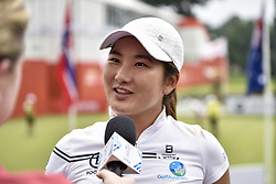October 26, 2017 - Kuala Lumpur, Malaysia - Su Oh of Australia has an interview with press during day one of the Sime Darby LPGA Malaysia at TPC Kuala Lumpur on October 26, 2017 in Kuala Lumpur, Malaysia. (Credit Image: © Chris Jung/NurPhoto via ZUMA Press)