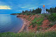 Lighthouse at dawn and Northumberland Strait