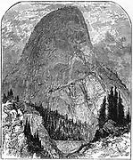 Yosemite Valley, California. Cap of Liberty, peak 4,000 ft high. Wood engraving c1875