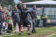 Forest Green Rovers assistant manager, Scott Lindsey during the EFL Sky Bet League 2 match between Forest Green Rovers and Chesterfield at the New Lawn, Forest Green, United Kingdom on 21 April 2018. Picture by Shane Healey.