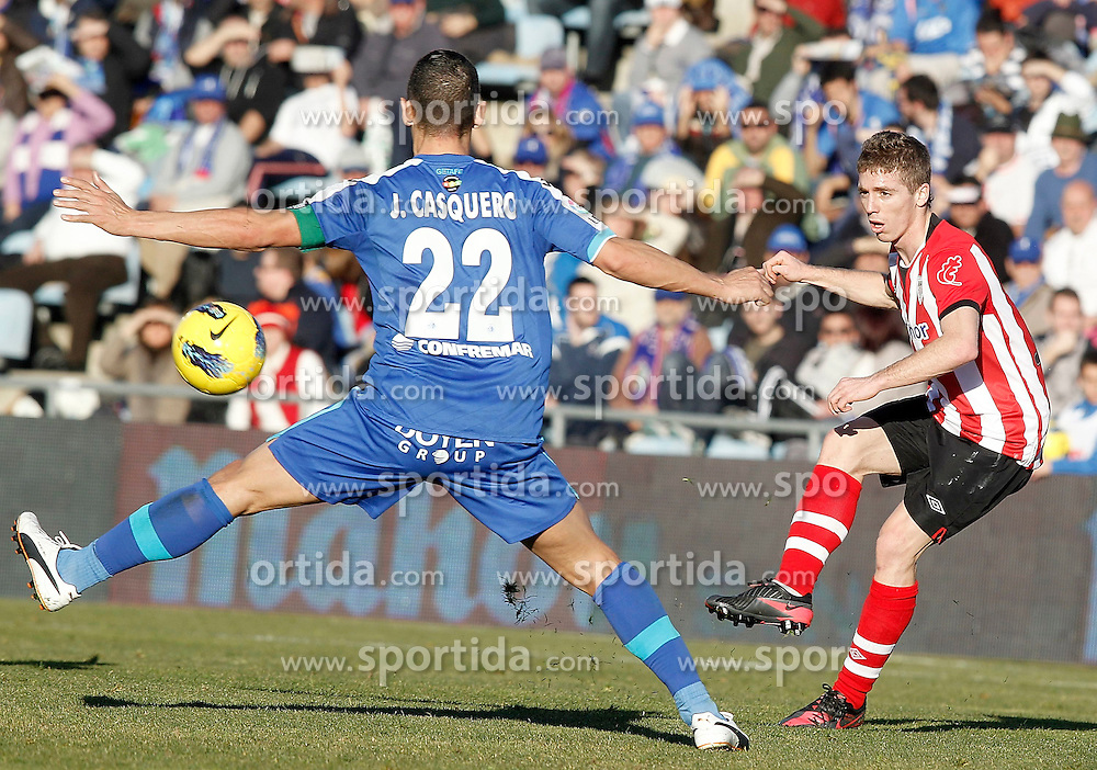 08.01.2012, Stadion Coliseum Alfonso Perez, Getafe, ESP, Primera Division, FC Getafe vs Athletic Bilbao, 18. Spieltag, im Bild Athletic de Bilbao's Iker Muniain // during the football match of spanish 'primera divison' league, 18th round, between FC Getafe and Athletic Bilbao at Coliseum Alfonso Perez stadium, Getafe, Spain on 2012/01/08. EXPA Pictures © 2012, PhotoCredit: EXPA/ Alterphotos/ Alvaro Hernandez..***** ATTENTION - OUT OF ESP and SUI *****