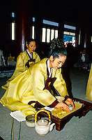 "Memorial service ""Kyesancho"" of the Great Mon Chajang, the founder of the Tongdosa Temple, north of Pusan (Busan), South Korea"