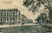 Old Postcard. General Post Office. Queen Street, Colombo.