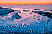 sandy shoreline along the Gulf of St. Lawrence at dusk<br />