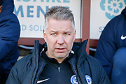 Peterborough United manager Darren Ferguson  during the EFL Sky Bet League 1 match between Bradford City and Peterborough United at the Northern Commercials Stadium, Bradford, England on 9 March 2019.