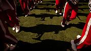 Lincoln, NE - Sept 23: Nebraska Cornhuskers  band before their game against the Rutgers Scarlet Knights at Memorial Stadium in Lincoln Nebraska September 23, 2017. Photo by Eric Francis