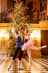 Chatsworth House Press Launch - Ballerinas from the  Nutcracker at Chatsworth on the Eve of its Christmas Season Opening - Dancers Ben Jones and Alice Rathbone<br /> <br />   04 October 2016<br />   Copyright Paul David Drabble<br />   www.pauldaviddrabble.photoshelter.com