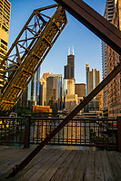Willis Tower from Kinzie Street Drawbridge
