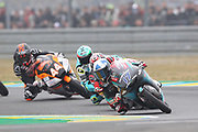 #17 John MCPHEE	GBR Petronas Sprinta Racing Honda leads #27 Kaito TOBA	JPN Honda Team Asia Honda, #48 Lorenzo DALLA PORTA	ITA Leopard Racing Honda and #44 Aron CANET SPA Sterilgarda Max Racing Team KTM during racing on the Bugatti Circuit at Le Mans, Le Mans, France on 19 May 2019.