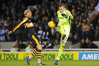 Football - 2016 / 2017 Sky Bet [EFL] Championship - Brighton & Hove Albion vs. Newcastle United<br /> <br /> Brighton goalkeeper David Stockdale clears under pressure at The Amex Stadium.<br /> <br /> COLORSPORT/ANDREW COWIE