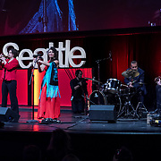 Tall Order TEDx Seattle 2018. Deseo Carmine (Flamenco dancer and musician). Photo by Alabastro Photography.