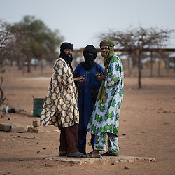 Malian refugees at the Goudebou camp, Burkina Faso on 6 May 2014.