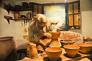 A display of traditional country life at Bodega El Paratge wine shop and museum located near Tossa de Mar and Lloret de Mar, Costa Brava, Catalonia, Spain