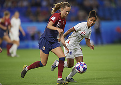 June 27, 2019 - Le Havre, France - Caroline Graham Hansen (Vfl Wolfsburg) of Norway, Demi Stokes (Manchester City WFC) of England competes for the ball during the 2019 FIFA Women's World Cup France Quarter Final match between Norway and England at  on June 27, 2019 in Le Havre, France. (Credit Image: © Jose Breton/NurPhoto via ZUMA Press)