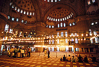Interior, Blue Mosque, Istanbul, Turkey