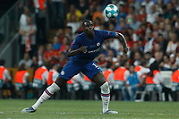 ISTANBUL, TURKEY - AUGUST 14: Kurt Zouma of Chelsea in action during the UEFA Super Cup match between Liverpool and Chelsea at Vodafone Park on August 14, 2019 in Istanbul, Turkey. (Photo by MB Media/Getty Images)