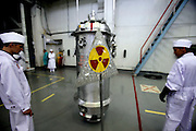 Technicians load highly enriched uranium fuel assemblies into casks at the Institute of Nuclear Physics in Almaty, Kazakhstan. .The removal of Kazakhstan's highly enriched uranium (HEU) is part of the U.S. Global Threat Reduction Initiative (GTRI), where Igor Bolshinsky and Kelly Cummins work, that tries to secure nuclear material around the world to prevent their misuse by terrorists and rogue states.
