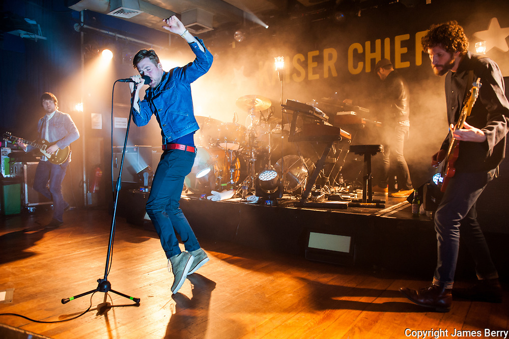 Kaiser Chiefs perform a small club show live at the Scala, Kings Cross, London on Thursday 13 February 2014. Picture shows Ricky Wilson.