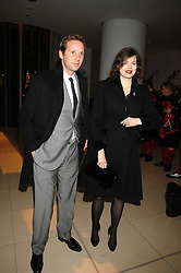 JASMINE GUINNESS and her husband GAWAIN RAINEY at 'Not Another Burns Night' in association with CLIC Sargebt and Children's Hospice Association Scotland held at ST.Martins Lane Hotel, London on 3rd March 2008.<br />