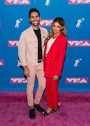 August 21, 2018 - New York City, New York, USA - 8/20/18.Nev Schulman and Laura Perlongo at the 2018 MTV Video Music Awards at Radio City Music Hall in New York City. (Credit Image: © Starmax/Newscom via ZUMA Press)