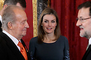 020514 Spanish Royals attend the reception with the Corps Diplomatic