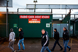 Manchester United fans arrive in the away end - Rogan/JMP - 26/01/2018 - FOOTBALL - Huish Park - Yeovil, England - Yeovil Town v Manchester United - FA Cup Fourth Round.