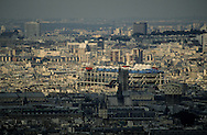 France. Paris. elevated view. Panoramic view onparis. View from Montparnasse tower