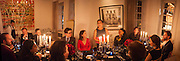 CENTRE: CHRISTOPHER ASPINALL; DANIELA AGNELLI; VERONICA MONCHO LOBO SPEAKING,; MOUCHETE BELL Veronica Moncho Lobo dinner. Argentinian fashion designer hosts i pre-BAFTA dinner with  style editor Sophie Goodwin, to showcase her line of red carpet gowns. Albert Hall Mansions. London. SW7