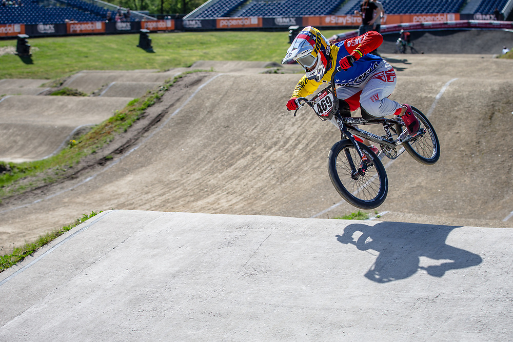 #469 (HERNANDEZ Stefany) VEN during practice of Round 3 at the 2018 UCI BMX Superscross World Cup in Papendal, The Netherlands