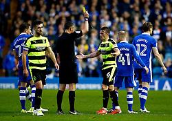 Jonathan Hogg of Huddersfield Town receives a yellow card  - Mandatory by-line: Matt McNulty/JMP - 17/05/2017 - FOOTBALL - Hillsborough - Sheffield, England - Sheffield Wednesday v Huddersfield Town - Sky Bet Championship Play-off Semi-Final 2nd Leg