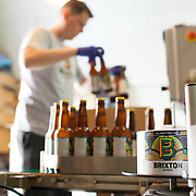 Brixton Beer Company, brewery near Brixton Market. Bottling up the brew