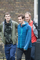 Downing Street, London, Decdember 1st 2015. Andy Murray and his Davis Cup-winning teamates arrive at Downing street to be congratulated by Prime Minister David Cameron. ///FOR LICENCING CONTACT: paul@pauldaveycreative.co.uk TEL:+44 (0) 7966 016 296 or +44 (0) 20 8969 6875. ©2015 Paul R Davey. All rights reserved.