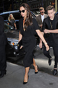 Sept. 13, 2015 - New York, NY, USA - <br /> <br /> Victoria Beckham, David Beckham and Brooklyn Beckham arriving to Balthazar Restaurant in New York City<br /> ©Exclusivepix Media