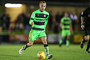 Forest Green Rovers Isaac Pearce(17) runs forward during the EFL Trophy group stage match between Forest Green Rovers and U21 Arsenal at the New Lawn, Forest Green, United Kingdom on 7 November 2018.