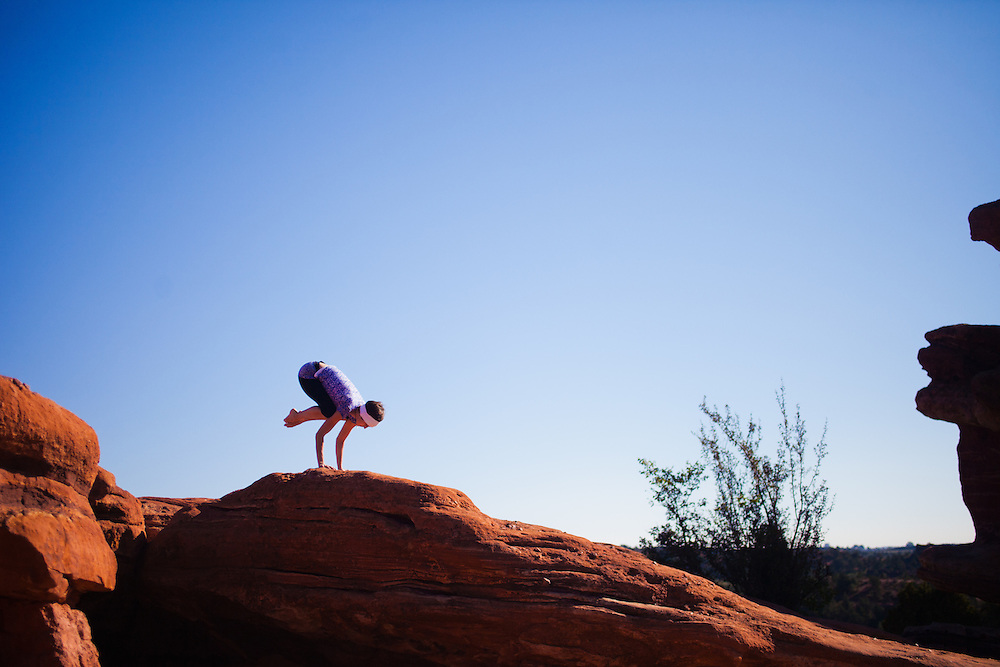 Elizabeth Fluharty at Garden of the Gods, Colorado Springs, COLORADO