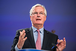 June 19, 2017 - Brussels, Bxl, Belgium - Michel Barnier  the EU Chief Negotiator of the Task Force for the Preparation and Conduct of the Negotiations with the United Kingdom under Article 50, dubbed the 'Brexit' gives a press conference at the end of a meeting at EU Commission in Brussels, Belgium on 19.06.2017 by Wiktor Dabkowski (Credit Image: © Wiktor Dabkowski via ZUMA Wire)