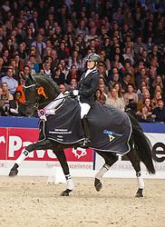 Van Haaren Jose (NED) - Cupido<br /> KWPN Stallion Selection - 's Hertogenbosch 2014<br /> © Dirk Caremans