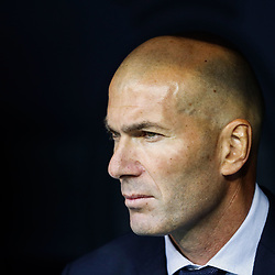 Real Madrid coach Zinedine Zidane during the UEFA Champions League group A match between Real Madrid and Club Brugge at the Santiago Bernabeu stadium on October 01, 2019 in Madrid, Spain .Photo by Icon Sport - Stade Santiago-Bernabeu - Madrid (Espagne)