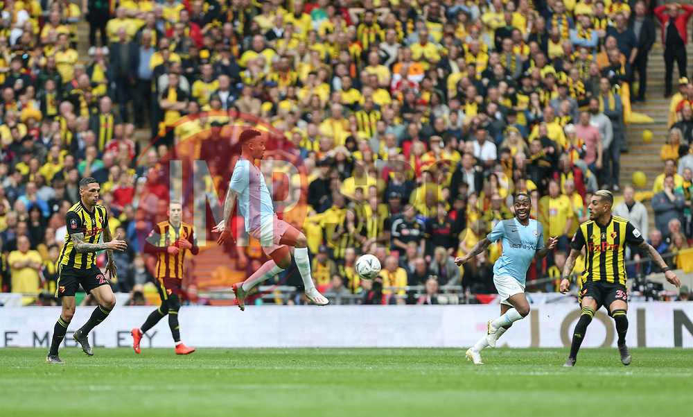 Gabriel Jesus of Manchester City controls the ball - Mandatory by-line: Arron Gent/JMP - 18/05/2019 - FOOTBALL - Wembley Stadium - London, England - Manchester City v Watford - Emirates FA Cup Final